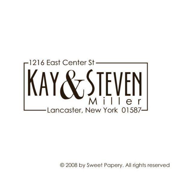 Custom Address Rubber Stamp | Self inking address stamp | 1216 on Etsy, $24.95