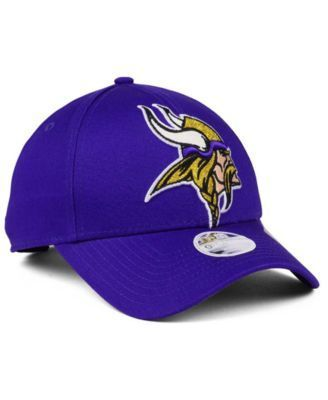 New Era Women's Minnesota Vikings Glitter Glam 9TWENTY Strapback Cap - Purple Adjustable
