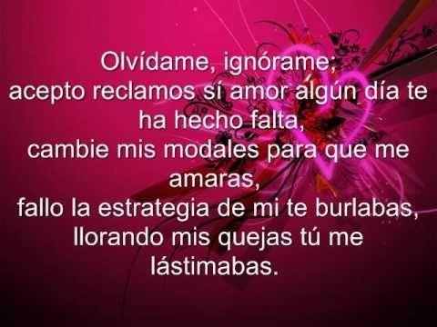 Julion Alvarez- Olvidame Con letra.............Perdi la batalla.... :(