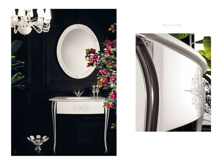 Topex Armadi Art Cristallo White With Swarovski Crystals Bath Vanity From Our Avantgarde Collection!