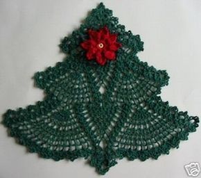 Free Crochet Christmas Doily Patterns | Christmas craft ideas: crocheted Christmas tree