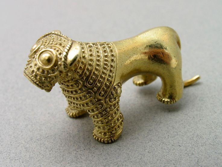 (Millennium Oldest Gold) Oldest Gold Lion figurines. ca 2nd half of the 3rd millennium BCE. Georgian National Museum. Georgia.