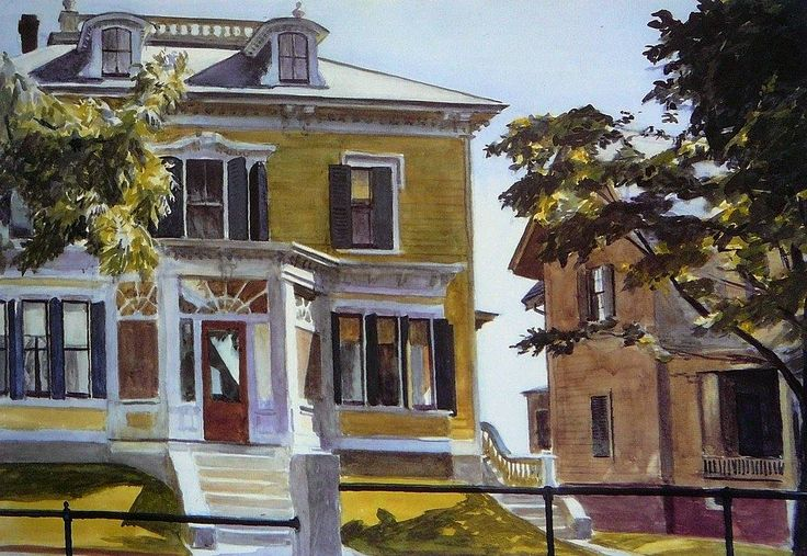 Edward Hopper (1882 — 1967, USA) Davis House (Davis House, Gloucester). 1926 watercolor. 35.7 x 50.8 cm. (14.1 x 20 in.)
