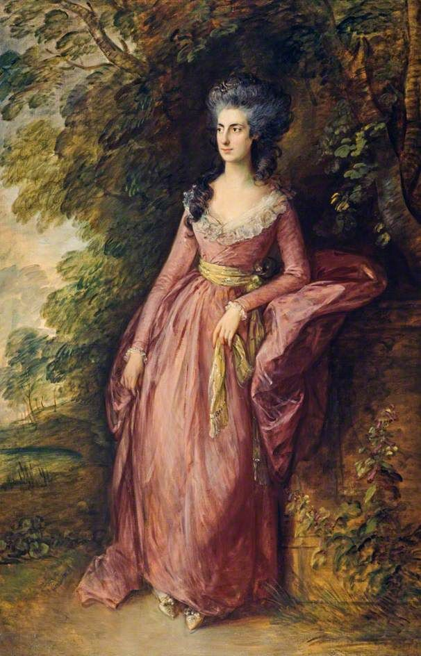 Mrs. Hamilton Nisbet, 1788, by Thomas Gainsborough (English, 1727-1788).
