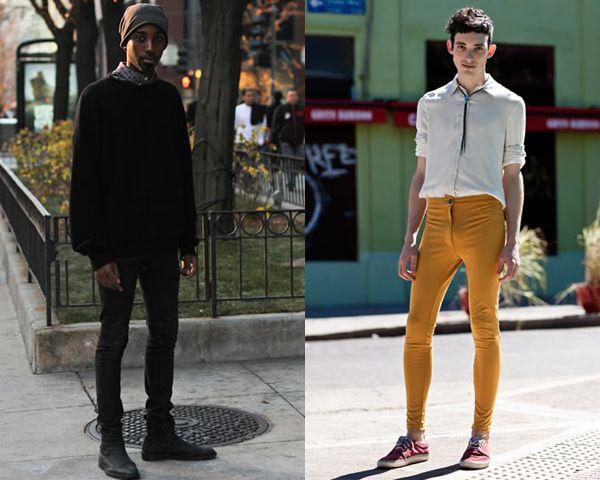 Dark and Bright skinny pants Street Style