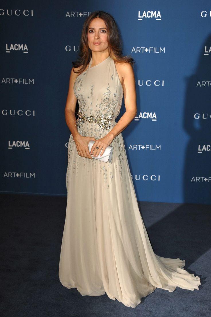 ctress Salma Hayek arrives at the LACMA Art + Film Gala in Los Angeles on Saturday, Nov. 2, 2013. (Jordan Strauss/Invision)