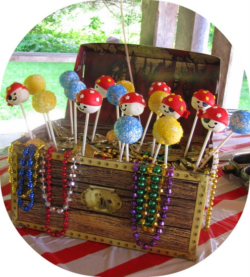 pirate cake pop treasure chest
