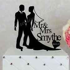 Personalised Wedding Cake Topper Acrylic Decoration Bride