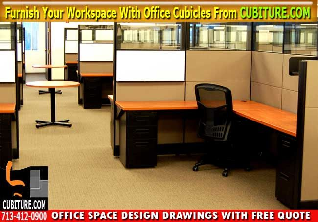 Cubicle Office Furniture For Sale In Houston Texas. Free Office Space Drawing With Free Quote Call Cubiture.com For A FREE Cubicle Office Furniture. FREE Quote Including Office Workspace Layout Design Drawings – 713-412-0900