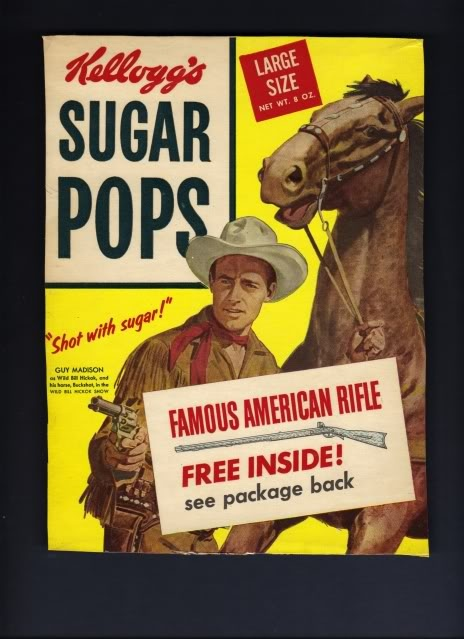 1950's Sugar Pops Cereal - Sixty years later, such a distinct change in american popular culture.