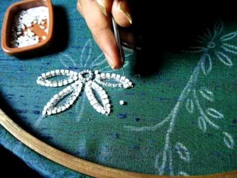 Shisha embroidery tutorial (simple) 1   Cantinho do Video