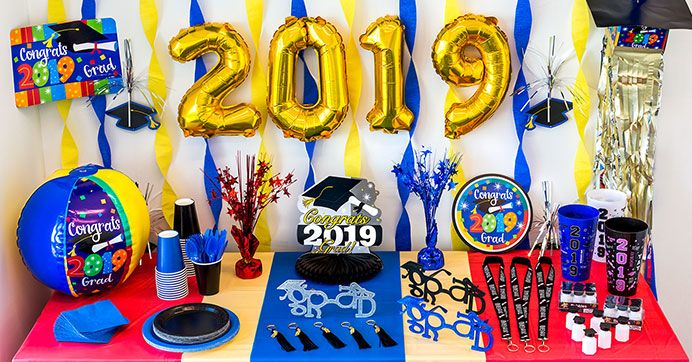 Celebrate Your Upcoming Graduate Dollar Tree Style Grad Party Decorations Graduation Party Supplies Dollar Tree