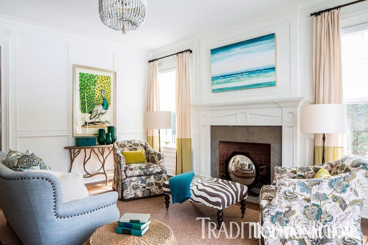 Great Color in a Hamptons Home | Traditional Home