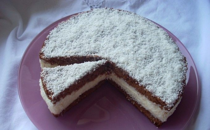 Jednoduchý kokosový dort | NejRecept.cz