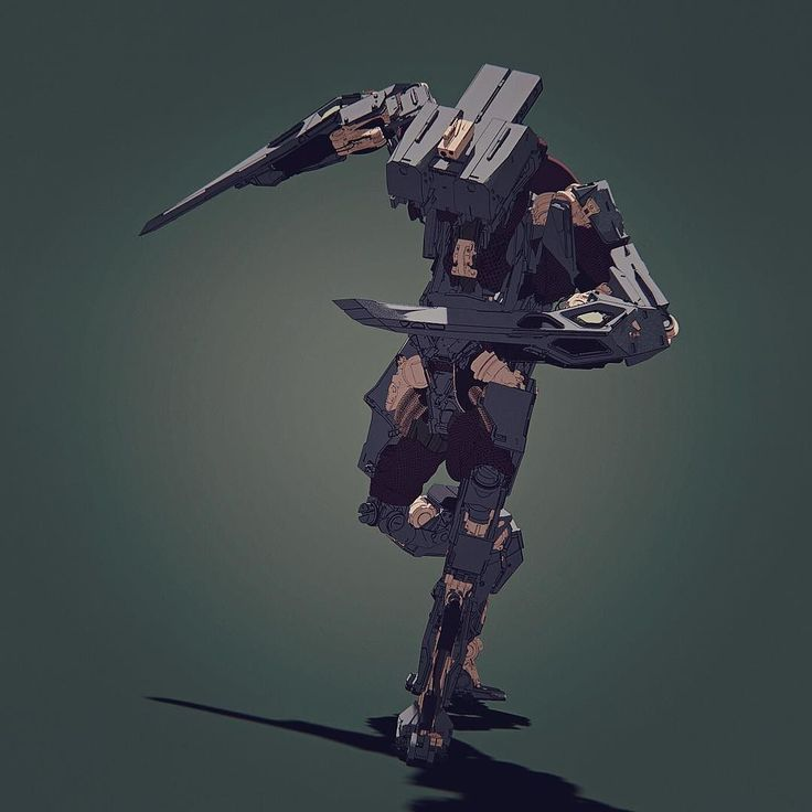 Quick toon shader test in @keyshot3d #conceptart #3d #design #cg #cgart #mech #robot by vitalybulgarov