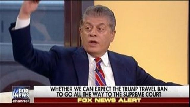 "Fox's Andrew Napolitano: ""It Is Exquisitely Unfair"" To Hold Trump Accountable For What He Said During The Campaign About The Muslim Ban"""