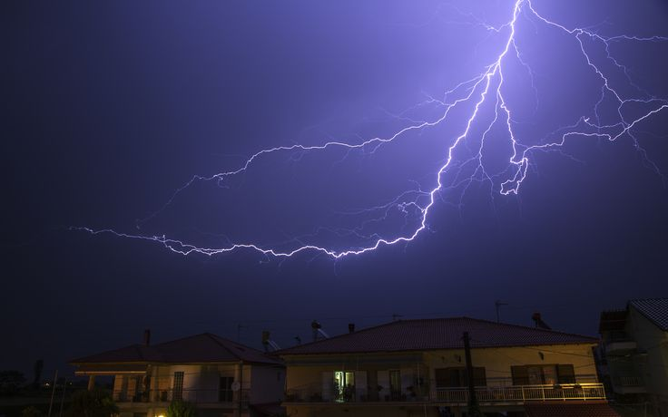 Lightning in Macedonia - northern Greece