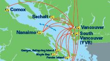 Harbour Air Seaplanes, Routes & Schedules