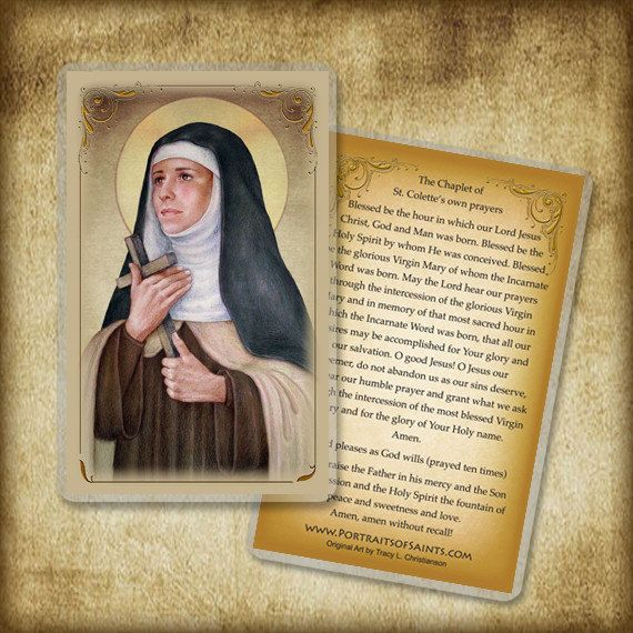 St. Colette Holy Card/ Prayer Card Patron by PortraitsofSaints