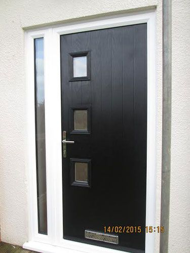 3 Square Glazed Composite Front Door in Black from Just Doors UK. & 81 best Composite Doors images on Pinterest