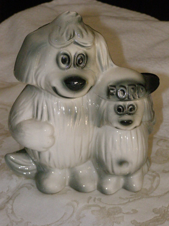 Vintage Ford Company Dog Bank Promo 1940s1960s Raised by parkie2, $30.00