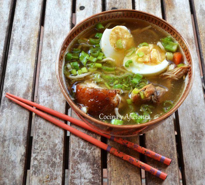 Shoyu ramen, la súper sopa japonesa, receta paso a paso.