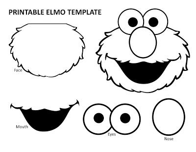 printable Elmo template, Elmo birthday party, Elmo printables, Sesame Street printable, Sesame Street birthday party