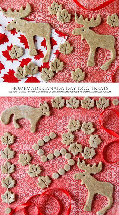 DIY Dog Treat Recipes |  {RECIPE} Maple Cinnamon Apple Canada Day Dog Treats