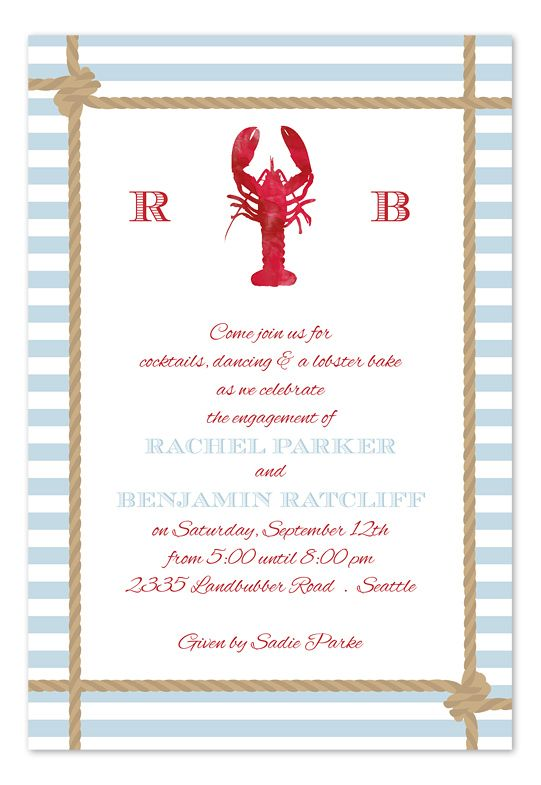 Lobster Catch Party Invitations By Invitation
