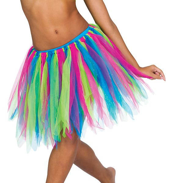 Moda Danza Adult Tattered Tutu Skirt The thick layers of neon just placed on board of Kim Dorlands paintings...needs more black accents.