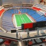 20-foot Ralph Wilson Stadium made out of 30,000 Legos with functional scoreboard