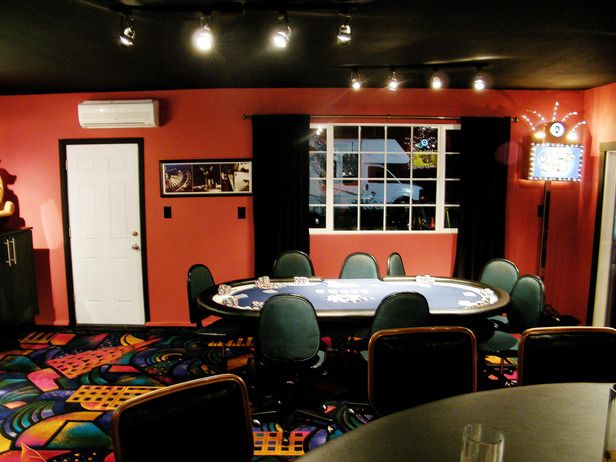 17 best images about casino poker man cave on pinterest for Garage game room