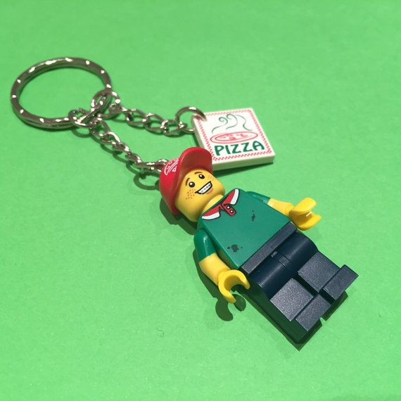 Lego pizza delivery boy minifigure with pizza box by TheBrickCave