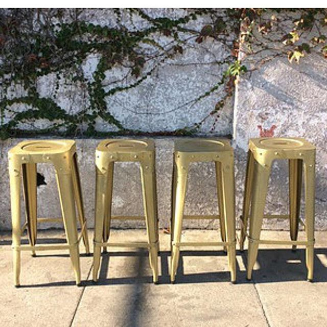 "Hurry and grab the last 2 of these Mid Century Style Brass Barstools, $12""w x 12""d x 30.25""h, Was $250 each, Now only $100 each #midcentury #barstool #barstools #sunbeamvintage #blowoutsale  #Regram via @sunbeam_vintage"