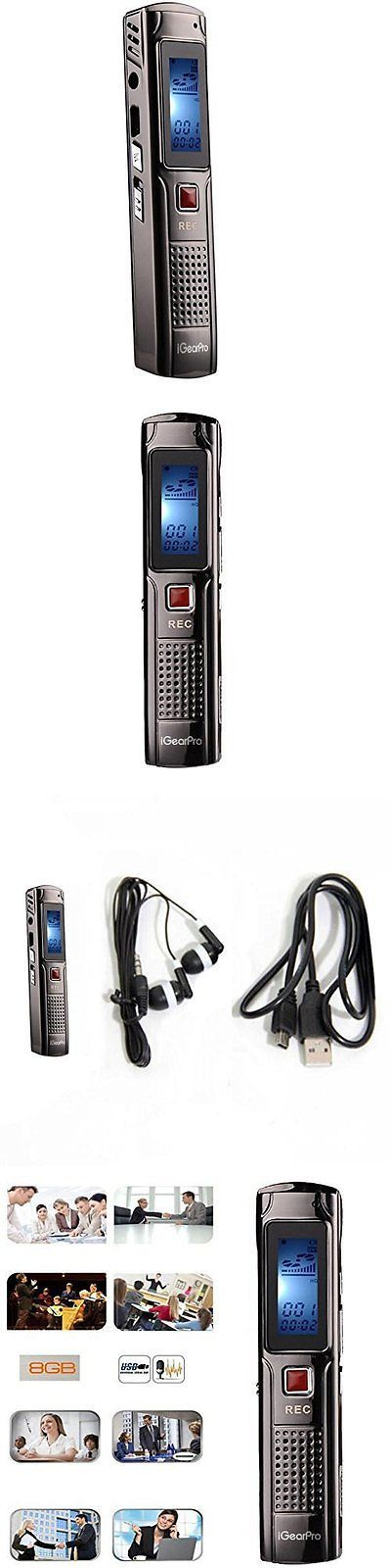 Voice Recorders Dictaphones: Voice Activated Audio Recorder Device Mp3 Player Playback Digital Sound Pen BUY IT NOW ONLY: $40.0