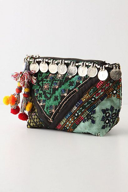 Cute little global-eclectic coin purse.