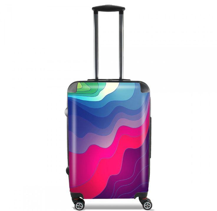 Valise Lignes floues cabine trolley personnalisée by Monika Strigel  95 €  #trolley #cabinetrolley #koffer #handgepäck #reisekoffer #kabinenkoffer #girlsontour #luggage #baggage #rolls #rollenkoffer