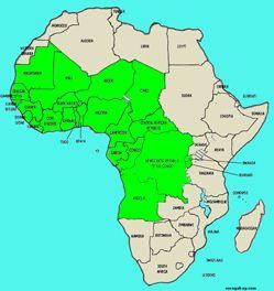 Map Central Africa Stillwonder