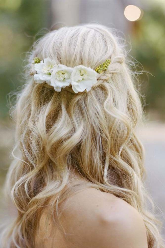 Wedding hairstyles half up bridesmaids hairstyles