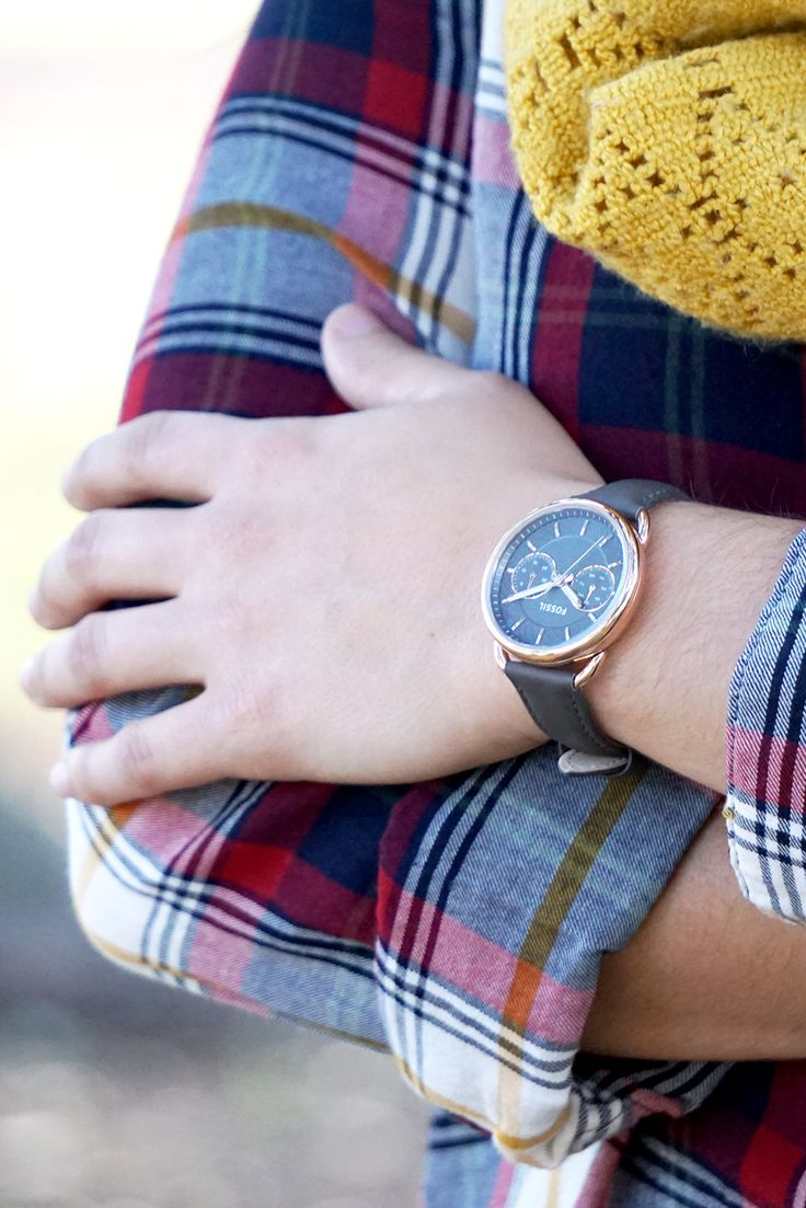 Her (iconic) Tailor Watch in our new grey leather straps.