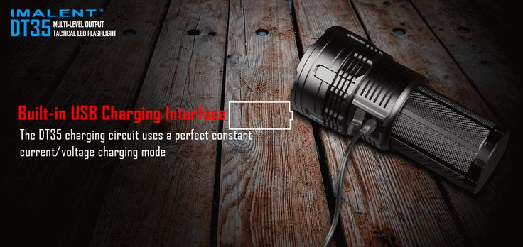 IMALENT DT35 XHP35 HI 8500LM 18650 USB Rechargeable LED Flashlight