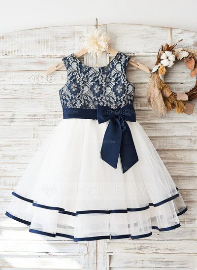 [US$ 64.99] A-Line/Princess Knee-length Flower Girl Dress -