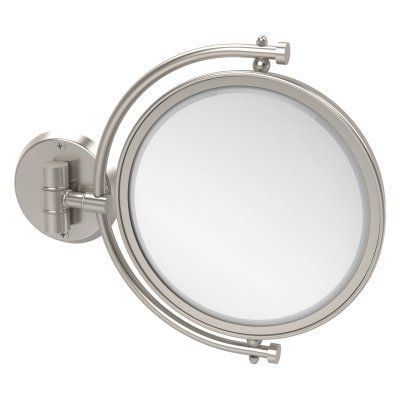 Allied Brass Wall Mounted Makeup Mirror with 4X Magnification - WM-4/4X-ABR