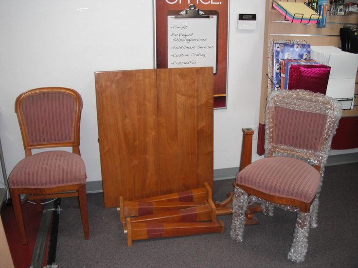 Chair And Table Set Packed And Shipped By Pak Mail Livermore, CA. Chair FurnitureShipsTables