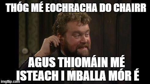 Thóg mé eochracha do chairr, agus thiomáin mé isteach i mballa mór é.