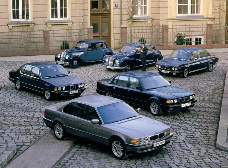BMW Series 7 evolution. 180,000 miles . Mine is in front .