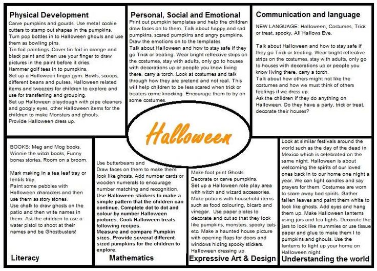 Halloween EYFS Medium Term Plan