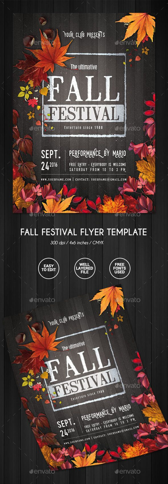 22 best Beautifully Designed PSD Birthday Party Flyer Templates ...