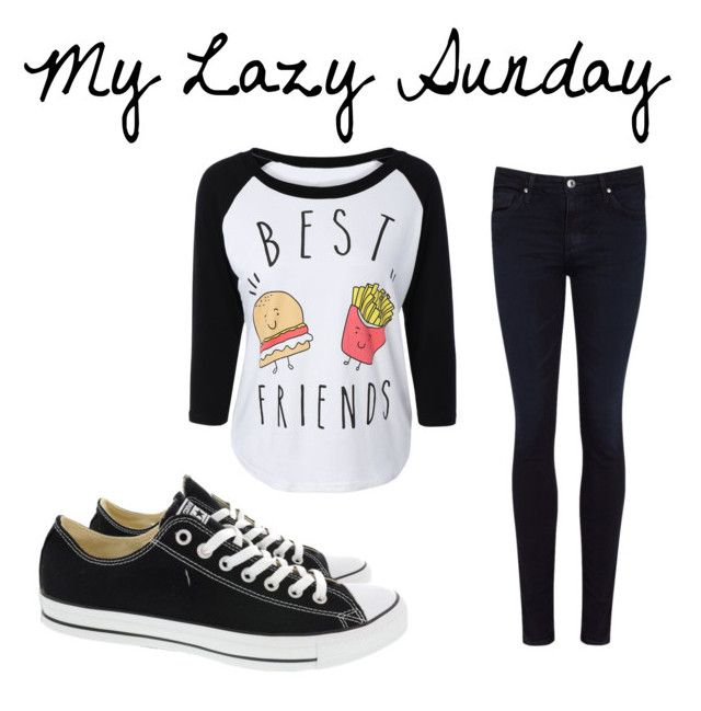 """My Lazy Sunday"" by schatten413 ❤ liked on Polyvore featuring AG Adriano Goldschmied, Converse and first"