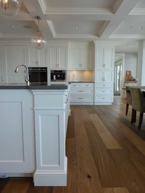White kitchen cabinets kitchen family room pinterest for 12 inch wide floor cabinet